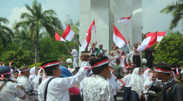 Apel Nusantara di Monumen Arek Lancor Pamekasan, Madura, Rabu (30/11/2016)