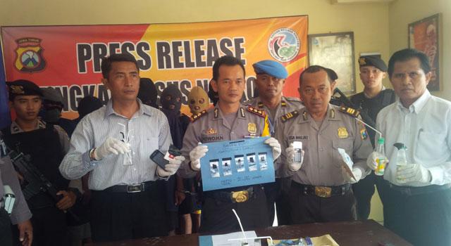 Rilis penanganan kasus narkoba di Mapolres Pamekasan, Madura