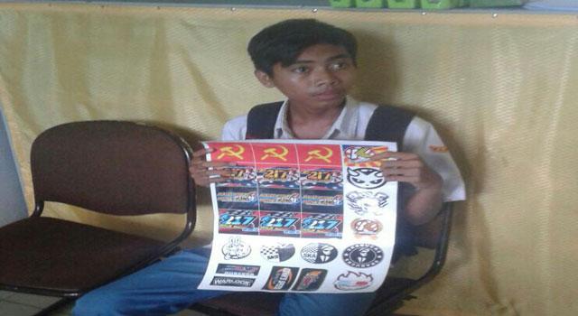 Ilham Fajar Kurniawan Pelajar SMK Negeri 2 Bangkalan ditangkap aparat, Selasa (28/2/2017) karena memesan gambar partai terlarang di negeri ini, yakni Partai Komunis Indonesia (PKI).