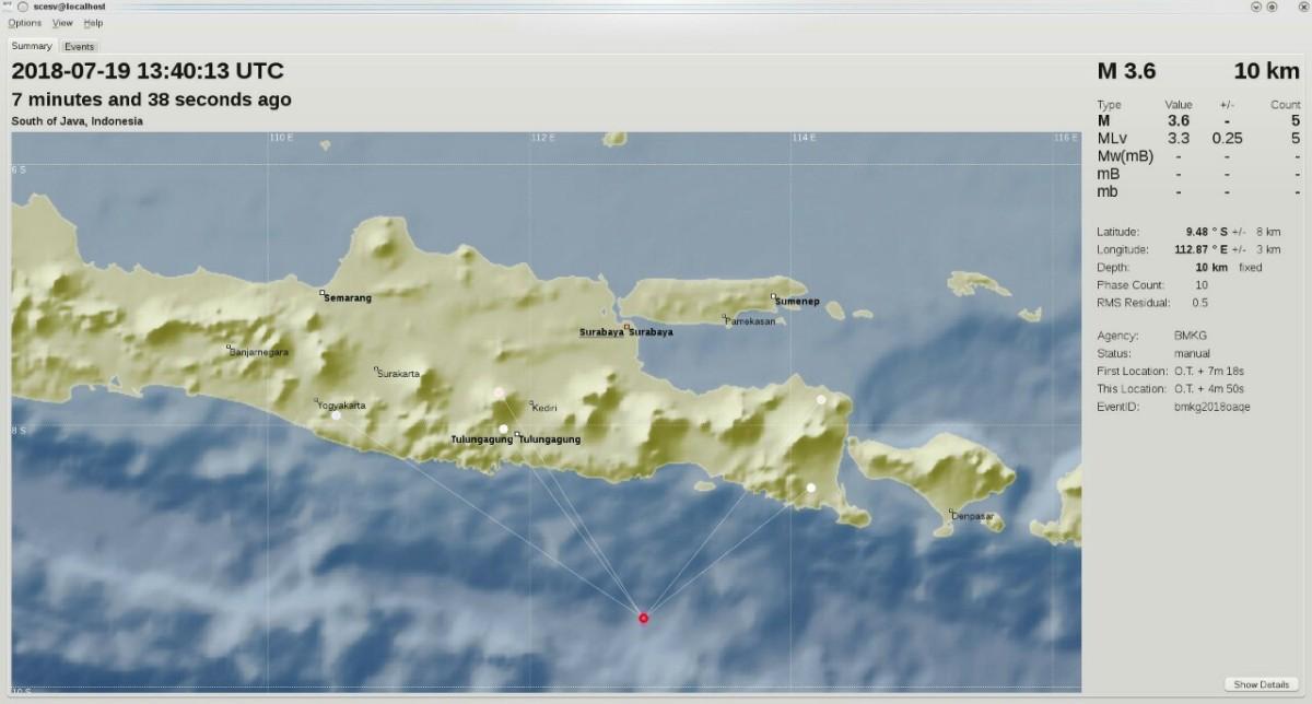 Gempa Tektonik Mengguncang Kabupaten Malang